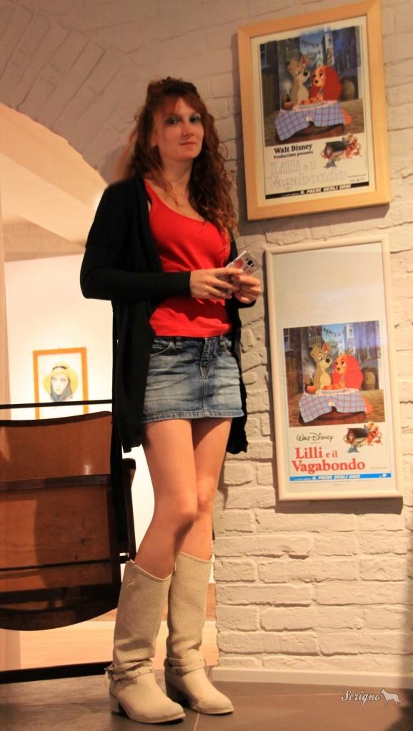 Chiara Giacobelli in visita al Museo Cinema a Pennello a Montecosaro